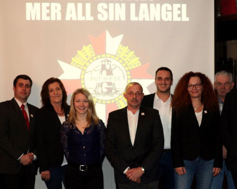 KG Löstige Langeler - Vorstand mit Motto 2020