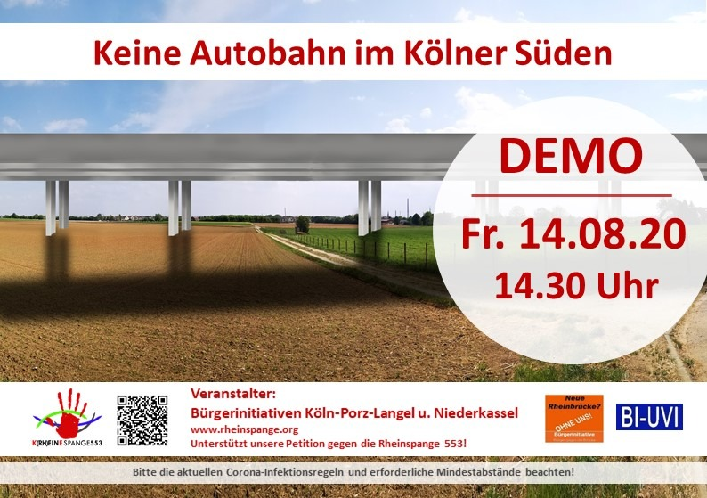 Demonstration gegen den geplanten Brückenbau von Straßen NRW